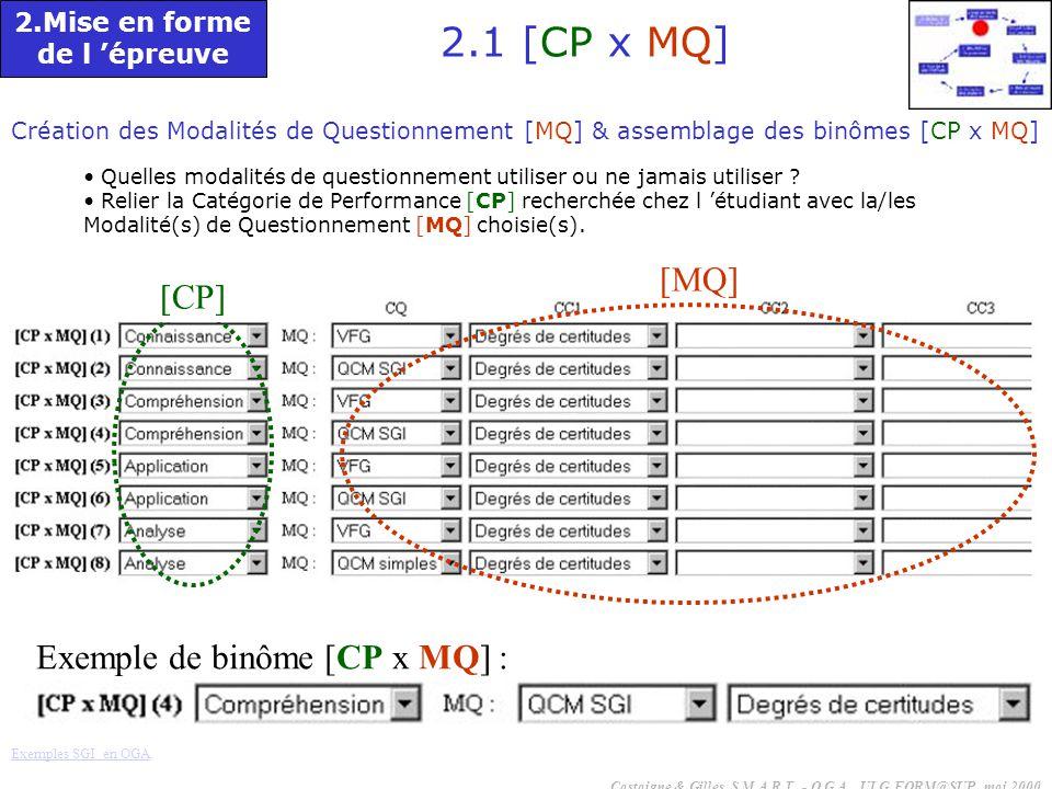 2.1 [CP x MQ] [MQ] [CP] Exemple de binôme [CP x MQ] :